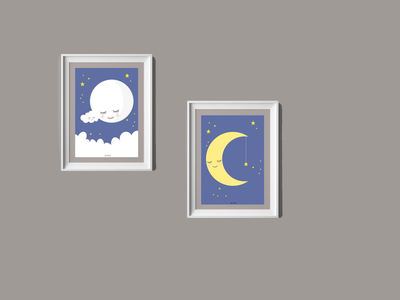 Print selv: Måne plakater